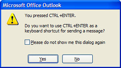 Ctrl + Enter in Outlook 2007