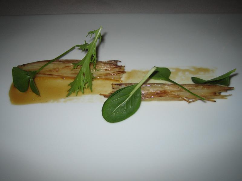 Mugaritz - Crispy Bundles of White Asparagus