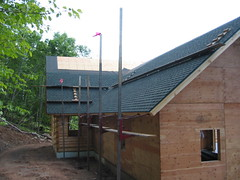 Roofing the back