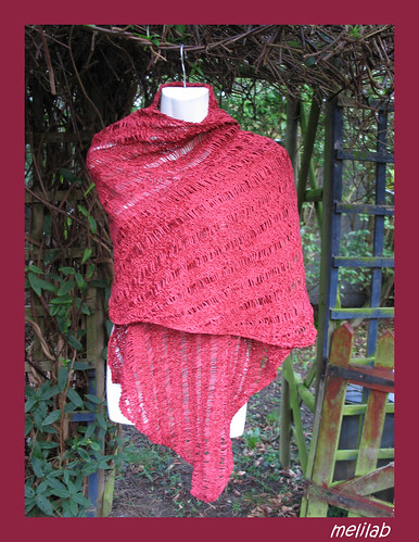 red chenille wrap