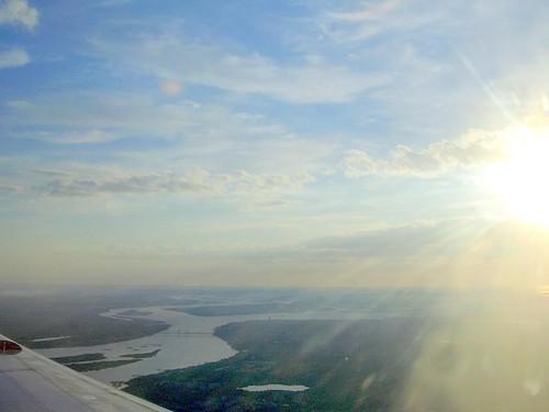 Северная Двина из иллюминатора / North Dvina from the illuminator