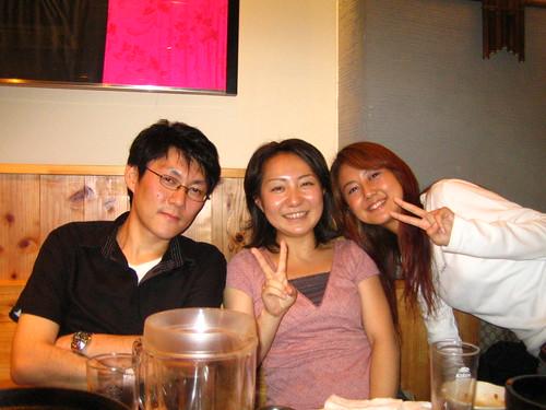 hanaoka-san (my big boss) , kosono-san, me