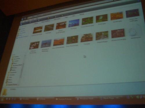 Galería de imágenes en Windows Vista Beta 2
