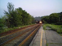 CSX Train Nearing Amsterdam Soon After Tracks Reopened.