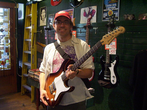 Derek and Yamaha Pacifica at Emerald City Guitars