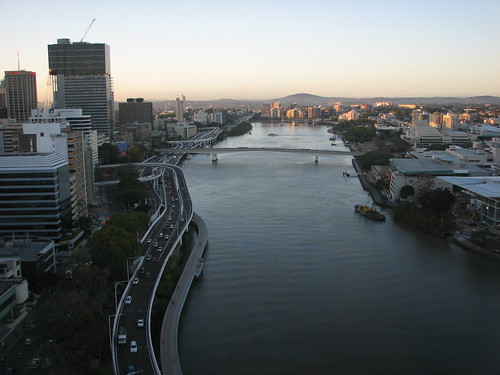 View from the Oaks Hotel, Brisbane