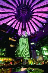 Cyberpunk Photo - Sony Center at night
