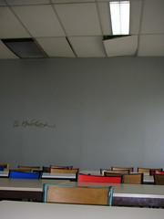 Salle de cours, université Paris VIII