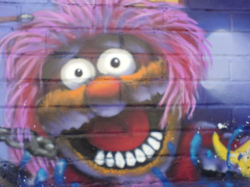 Graffiti in a notting hill july 2006 - animal muppet
