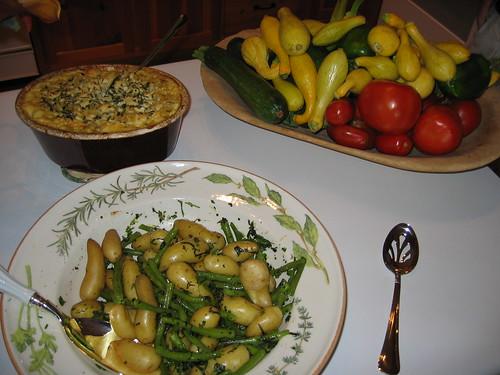 fingerling potatos and green beans