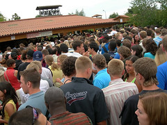 Dinner line at Taizé