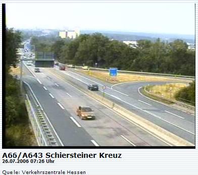 Verkehrskamera Schiersteiner Kreuz