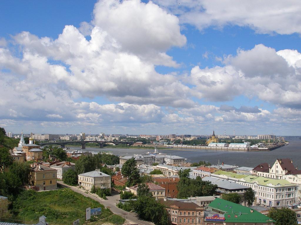 A view of Nizhniy Novgorod from the Kremlin