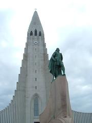 Leifr Eiricsson at Reykjavík Cathedral