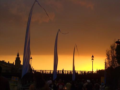 Coucher de soleil vu de Paris Plage