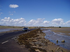The causeway to Lindisfarne