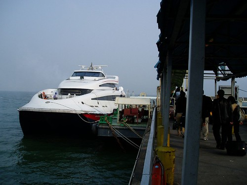 Boat that tooks us to Macau from Hong Kong Airport
