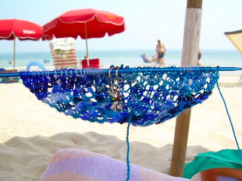 swallowtail shawl on the beach