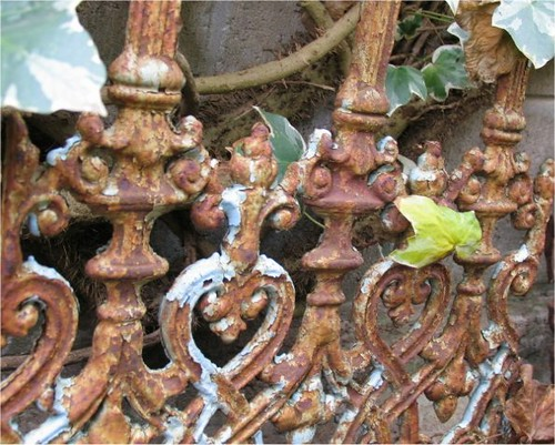 rusted Victorian ironwork