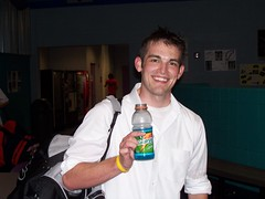 Mike, post game and shilling for Gatorade