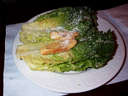romaine lettuce salad. but the Romaine lettuce