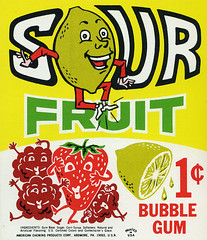 Sour Fruit Bubble Gum card