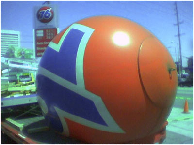 Death of the 76 Ball, Sawtelle and Santa Monica Blvd., LA, August 2006