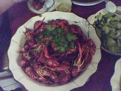 整鍋的小龍蝦