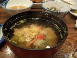 20060520 魚半日吉苑 夕食 伊勢海老味噌汁
