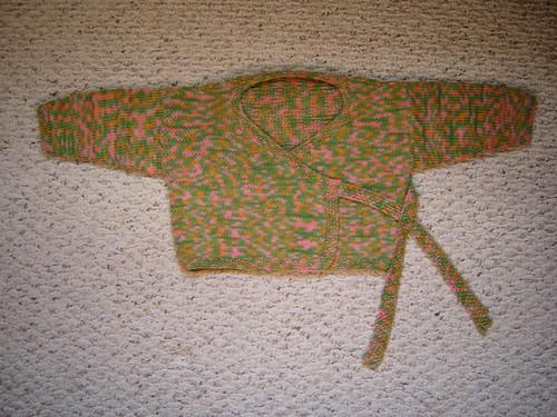 Kimono baby sweater