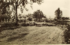 Alsace - 1945- Pont de la blind où fut tué le Lieutenant Arnaud (Génie) le 27 janvier 1945-Cliché Pierre Debray source  : Jean-Philippe Strauel