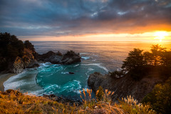 Sunset at McWay Falls photo by Chris Delle