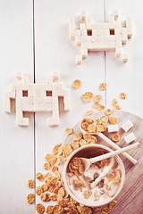 8 bit teatime (Space Invaders) photo by Dina Belenko