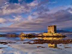 Early Sun, Castle Stalker - Explored 16/01/14 photo by mark_mullen