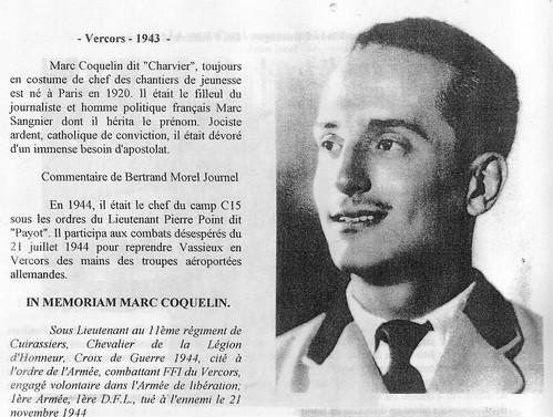 11e Cuirassiers - Marc Coquelin, Charvier dans la résistance (maquis du Vercors) -  Fonds Gérard Galland