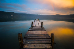 Golden sunset, with rainbow photo by luigig75
