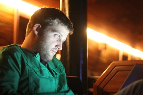 Thibault Imbert studying.