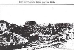 Provence 1944- Pont provisoire sur le Gapeau lancé par le Génie- La 1ère DFL dans le Var août 1944- Pierre Tropet conservateur du Memorial de Hyères