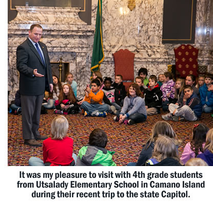 Rep. Dave Hayes with students from Utsalady Elementary School
