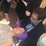 Dr. Taub demonstrationg Pellevé™ at the ASDS Skin Experts Conference