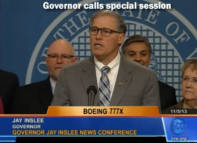 Gov. Jay Inslee calls special session.