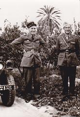 BM XI- 1944- Tunisie- Xavier Langlois et le Lt Pierre Langlois 22 BMNA  mplf Italie mai 44)