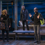 Susie McMonagle (Maria), Jeff Parker (Francois) and Stephen Schellhardt (Edmund) in DAYS LIKE TODAY at Writers Theatre. Photo by Michael Brosilow.