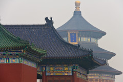The smog over Beijing envelops the Temple of Heaven, Beijing, China photo by fabriziogiordano23