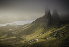 Old Man of Storr, Skye at dawn photo by Belhaven2011