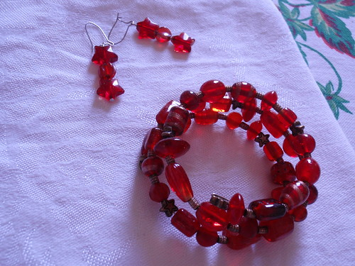 Red Jewelry from Mom