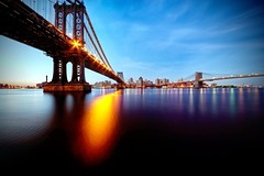 Manhattan Bridge, Brooklyn, and the Brooklyn Bridge on July 7, 2013 photo by mudpig