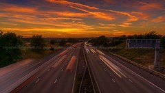M6 Sun Set, England, UK photo by StergenFish Photography