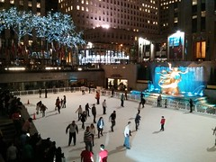 Ice skating at the Rockefeller