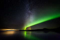 Milky Way Aurora at Þingvellir photo by Ingólfur B